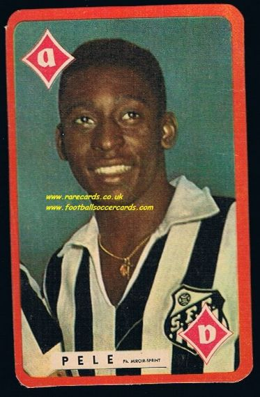 1960 large version Pele playing card from France